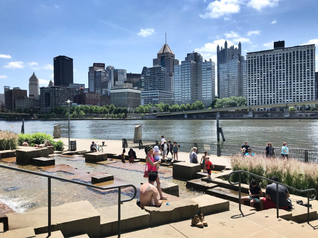 Pittsburgh's water steps on the North Shore.